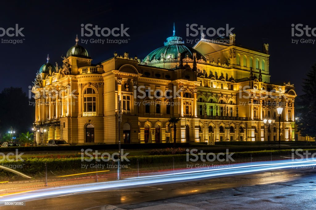 Juliusz Slowacki Theater in Krakow, Poland stock photo