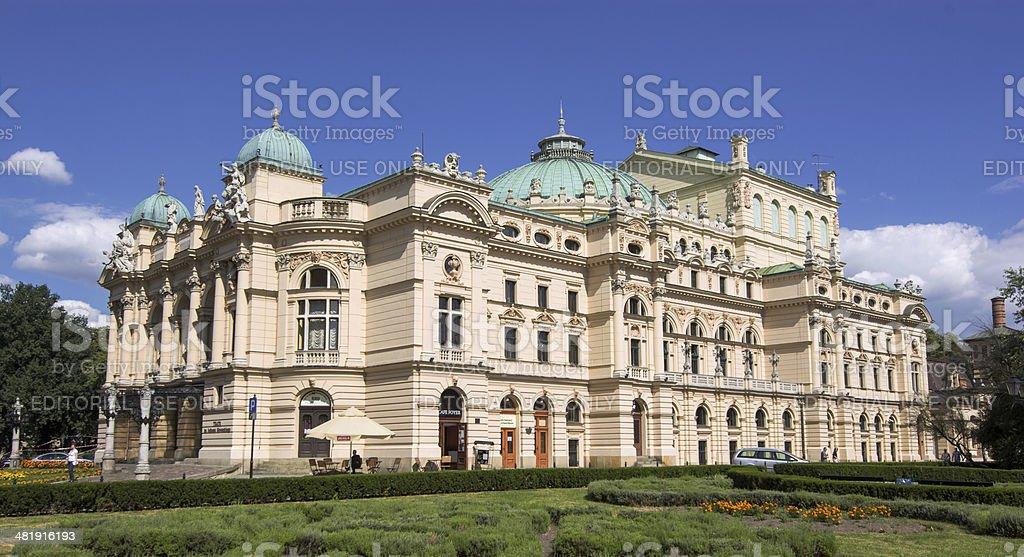 Juliusz Słowacki Theater in Krakow, Poland stock photo