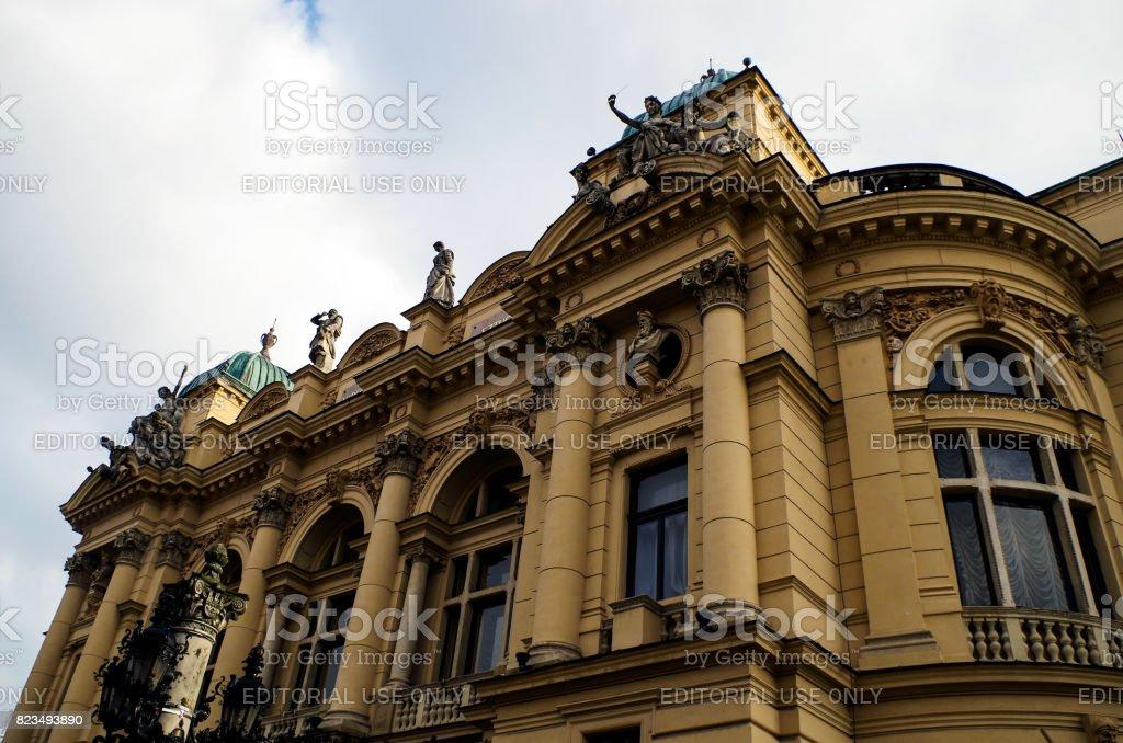 Juliusz Słowacki Theater in Kraków, Poland stock photo