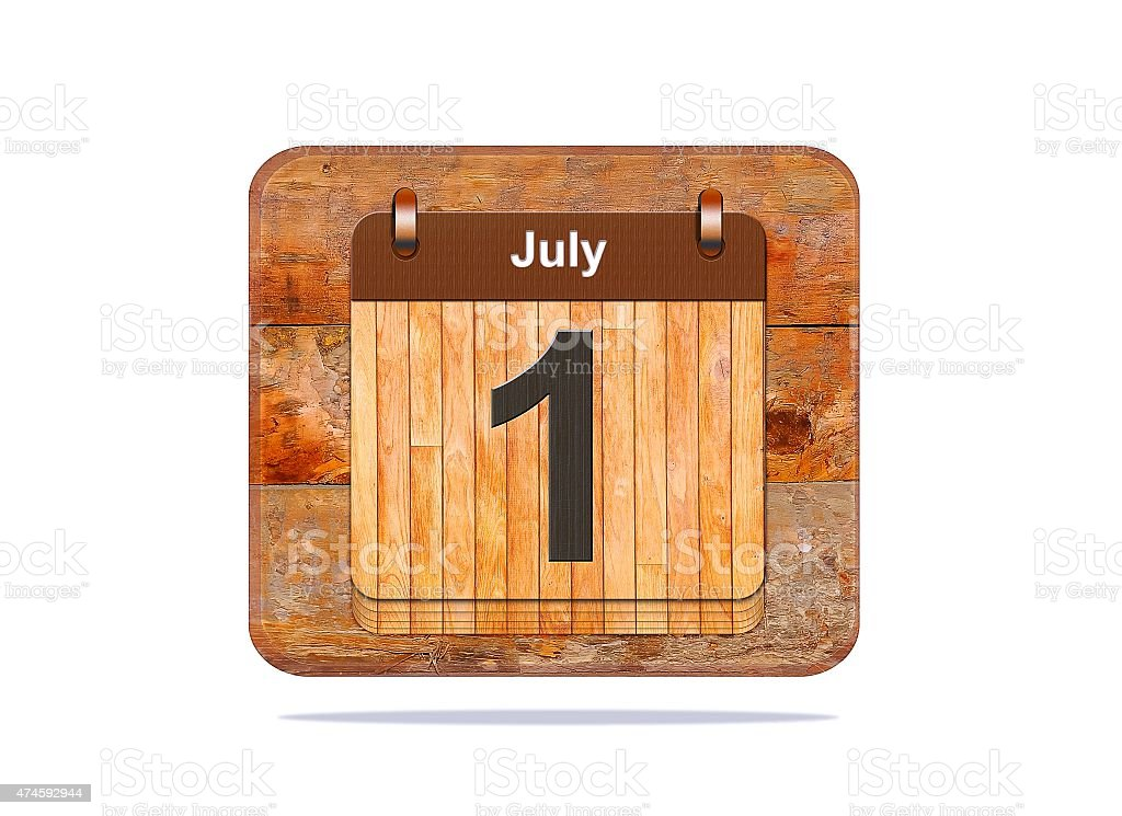 July 1. stock photo
