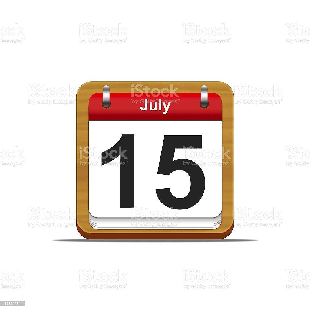 July 15. stok fotoğrafı