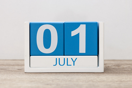 istock July 1st. Image of july 1, calendar on white background. Summer day. Empty space for text 685042598
