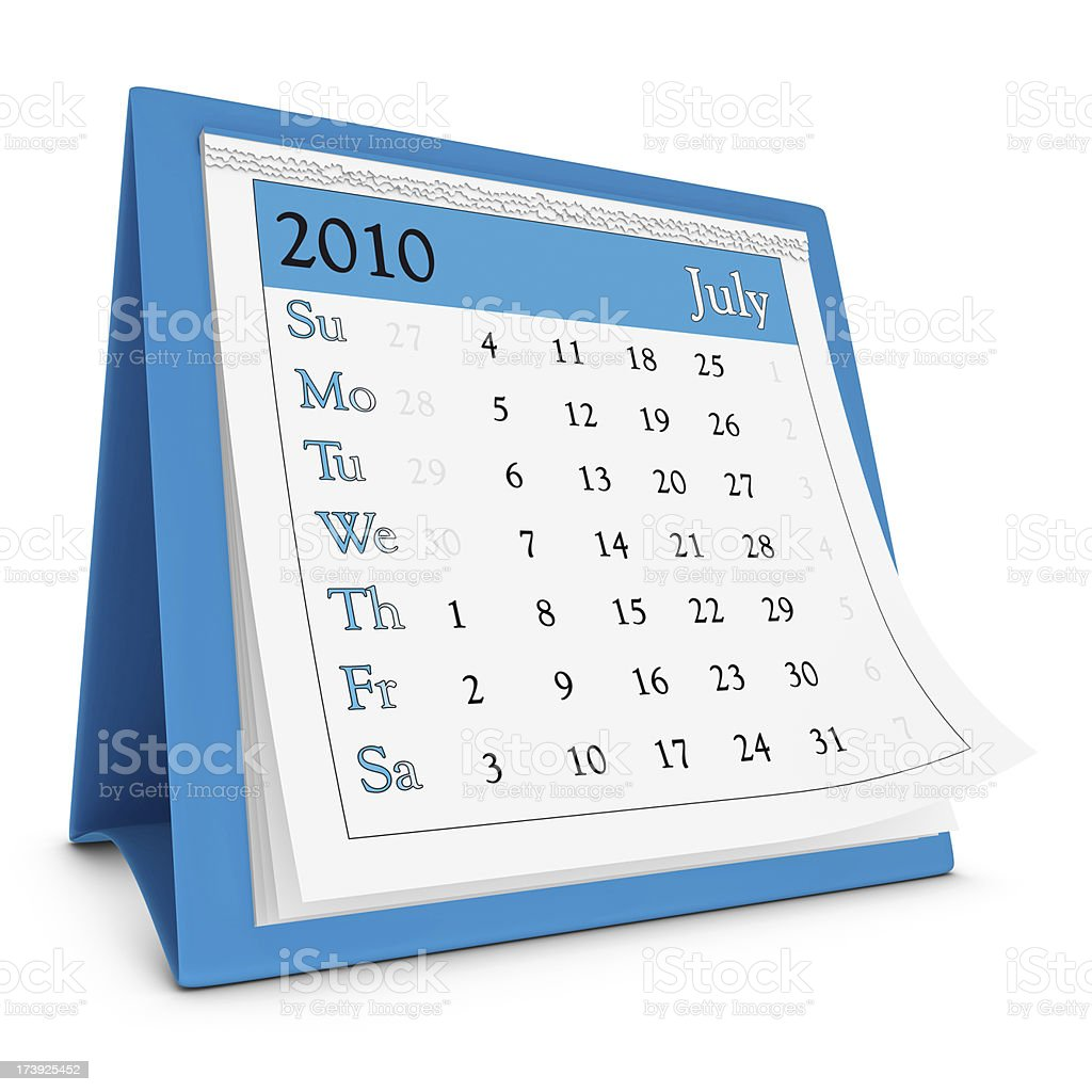 July 2010 - Calendar series royalty-free stock photo