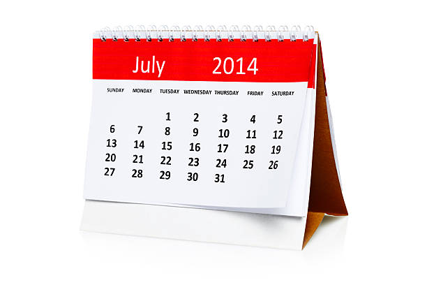 July 2014 Calendar July 2014 Calendar  isolated on white 2014 stock pictures, royalty-free photos & images