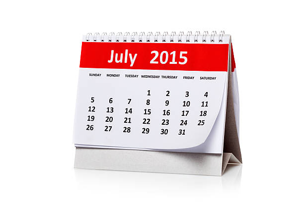 July 2015 stock photo
