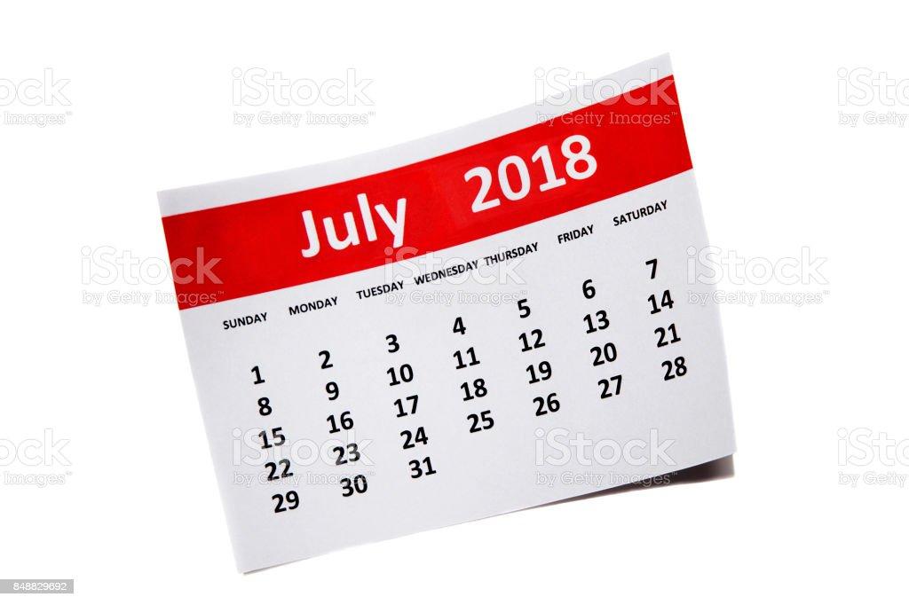 July 2018 stock photo