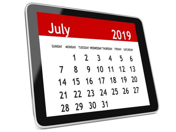 Juli 2019 Kalender tablet – Foto