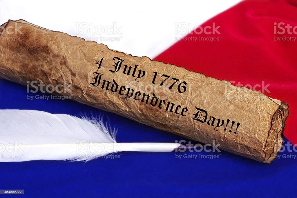 july 4 1776  Independence Day royalty-free stock photo