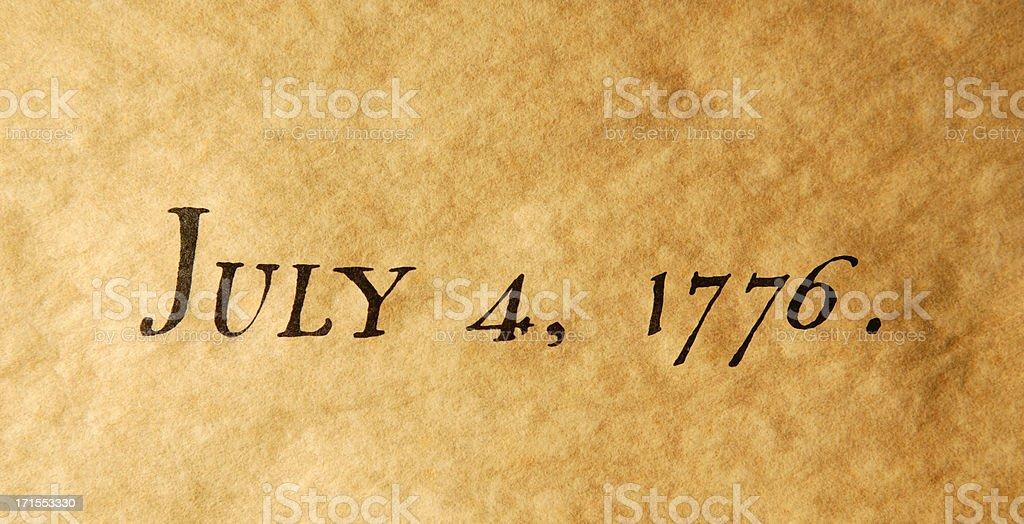 July 4, 1776 royalty-free stock photo