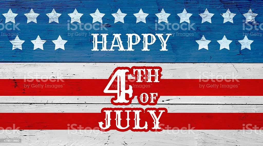 July 4th background stock photo