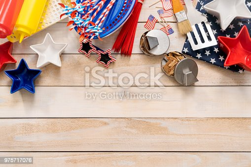 istock July 4th background with copy space. 975717076