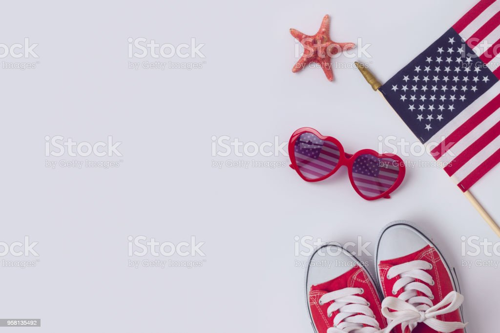 July 4th concept stock photo