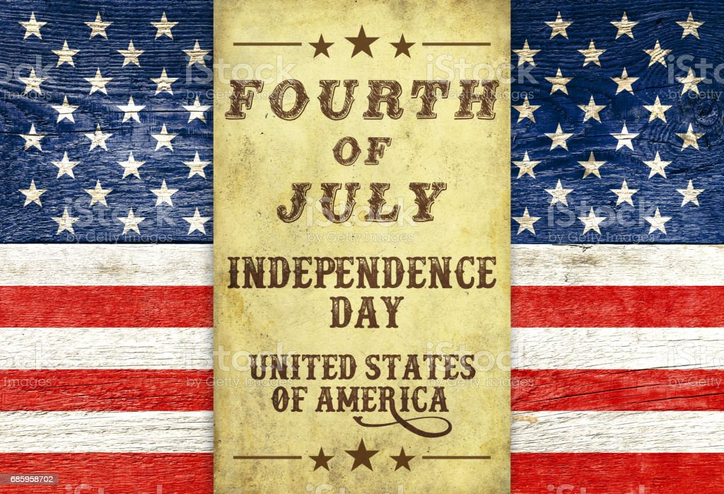 USA 4 July background retro styled stock photo