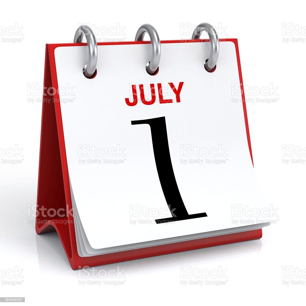 July Calendar stock photo