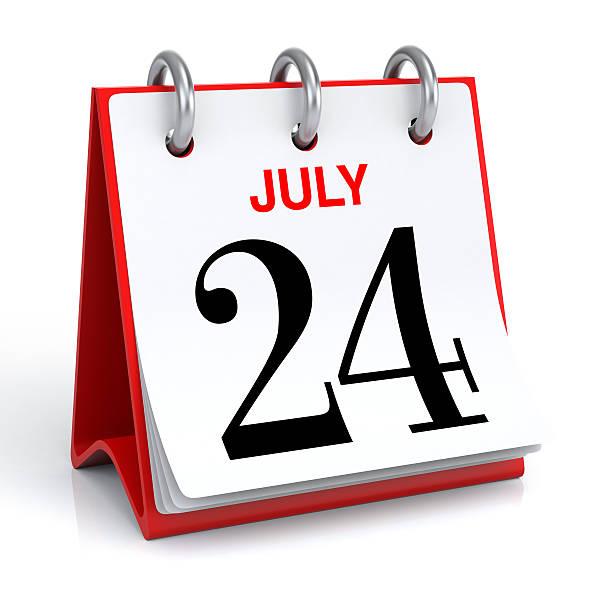 calendrier de juillet - nombre 24 photos et images de collection