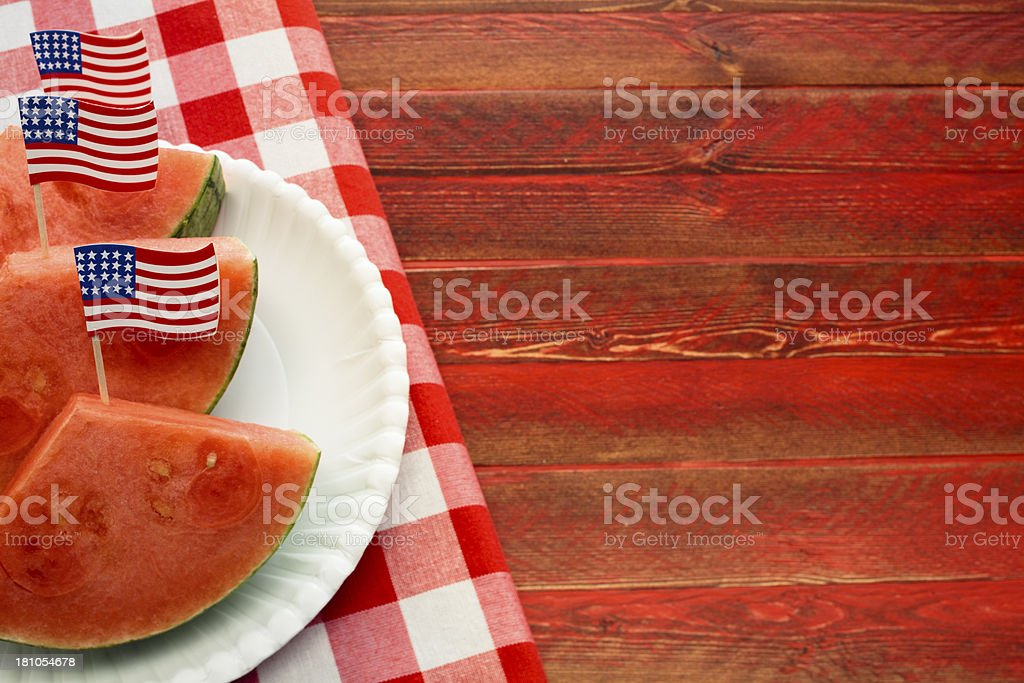 July Fourth Picnic stock photo