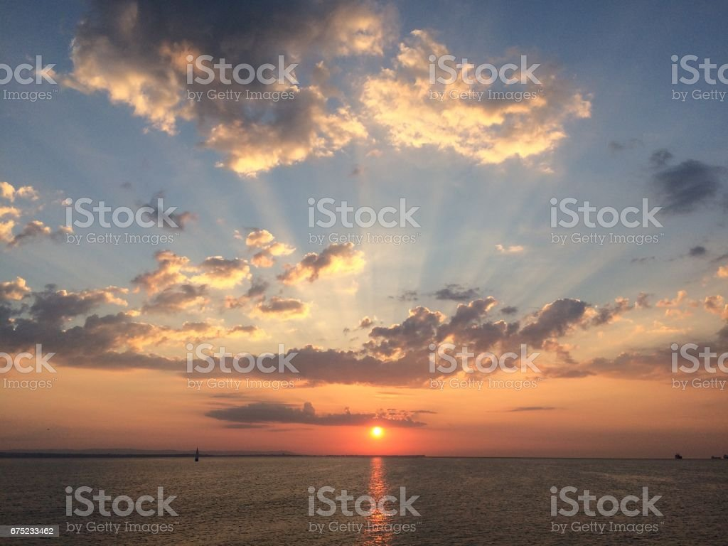 July morning in Burgas royalty-free stock photo