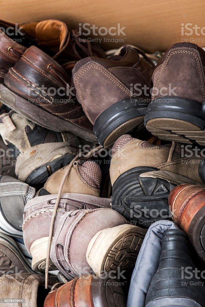 Jumble Men Shoes stock photo