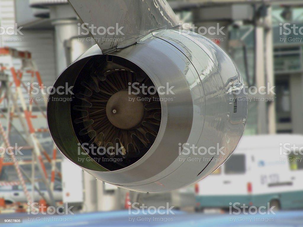 Jumbo 747 engine stock photo