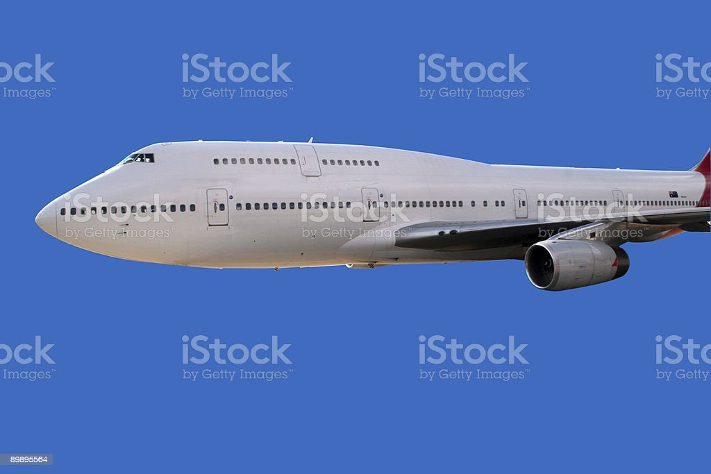 Jumbo flying royalty-free stock photo