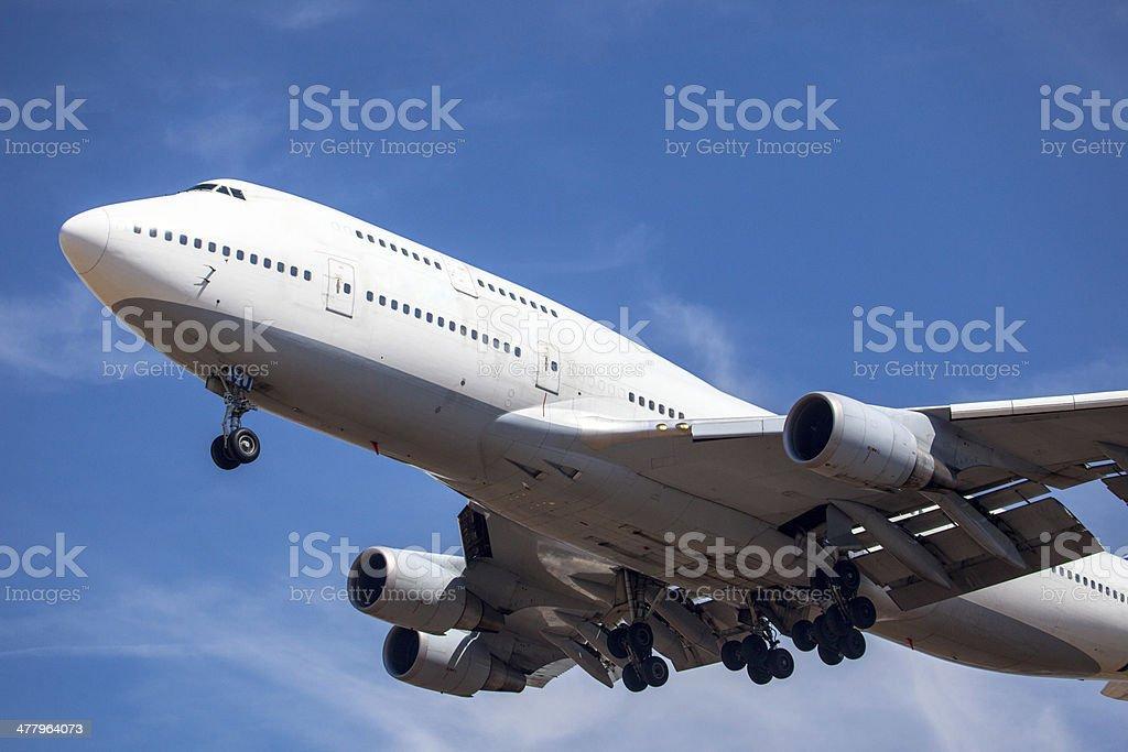Jumbo Jet 747 stock photo