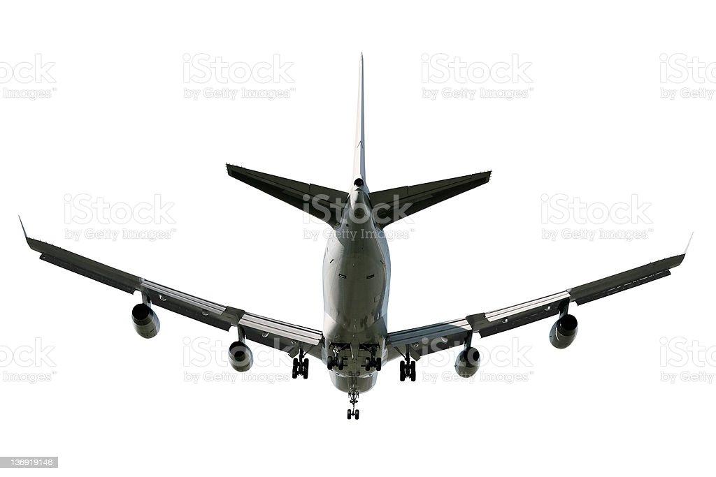 XL jumbo jet airplane landing royalty-free stock photo