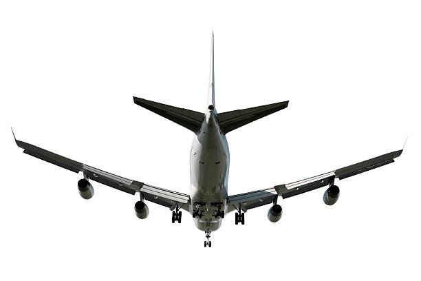 XL jumbo jet Passagierflugzeug Landung – Foto