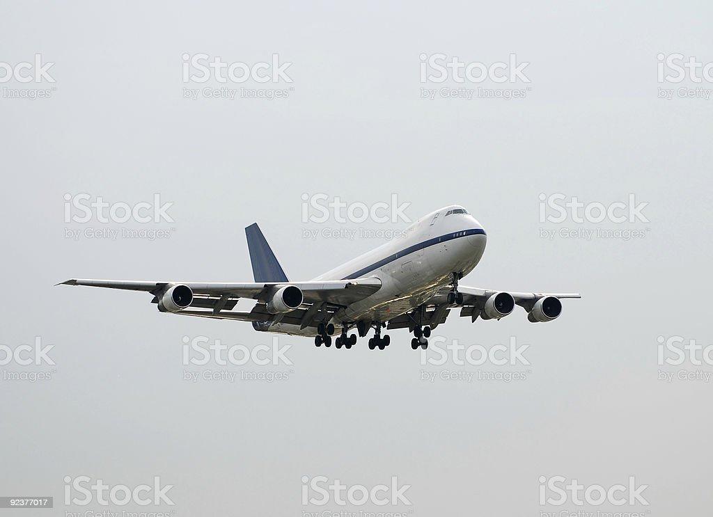 Jumbo jet Frachtflugzeug Lizenzfreies stock-foto