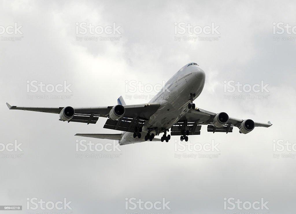 Jumbo jet royalty-free stock photo