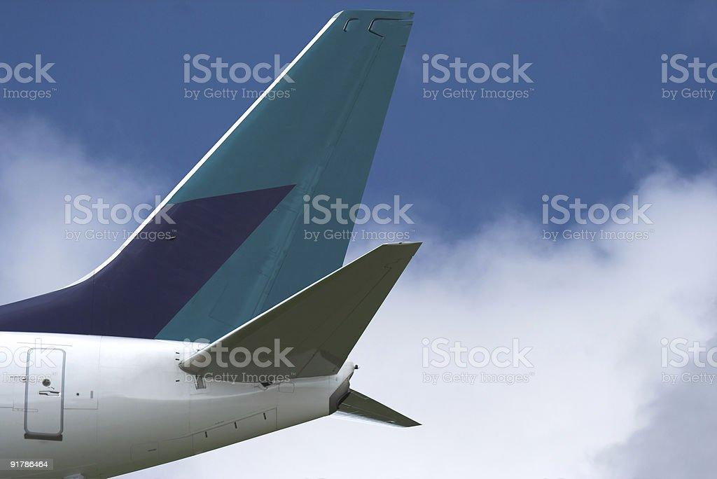 Jumbo Jet Tail stock photo