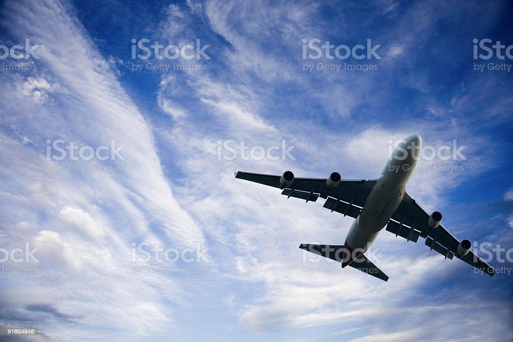 Jumbo  Jet Taking Off stock photo