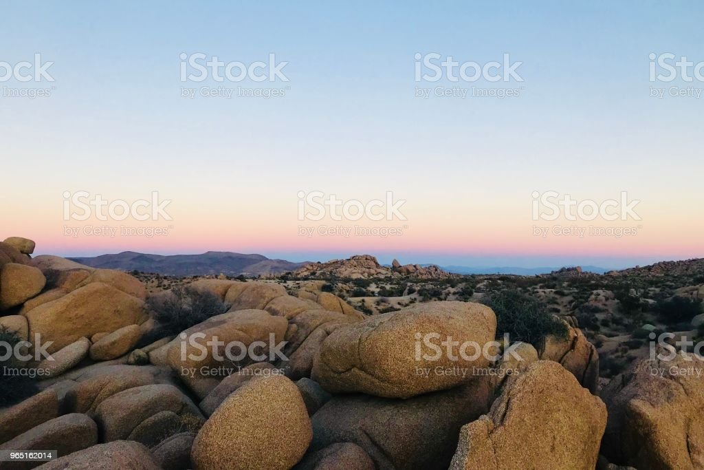 Jumbo Rocks Sunset zbiór zdjęć royalty-free