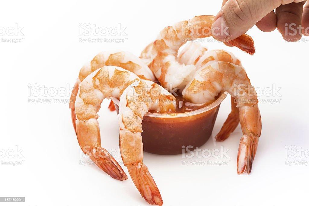 jumbo shrimp cocktail royalty-free stock photo