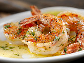 Jumbo Tiger Prawn Scampi poached in Butter and Herbs