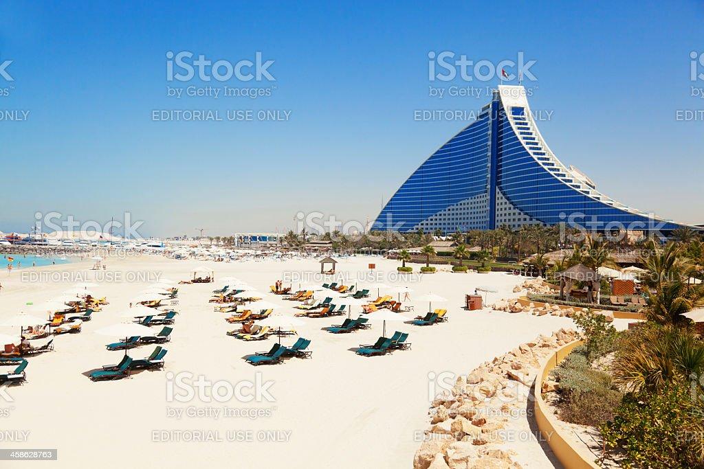 Jumeirah Beach hotel, Dubai stock photo