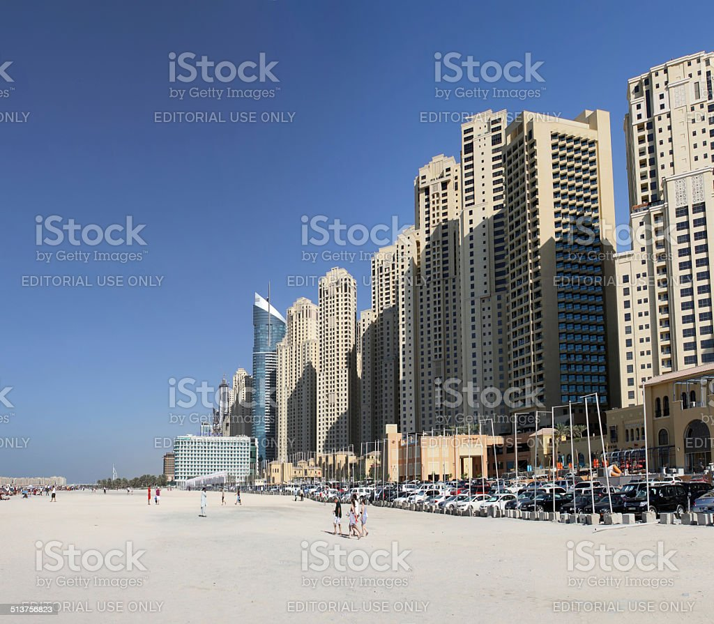 Jumeirah Beach in Dubai stock photo