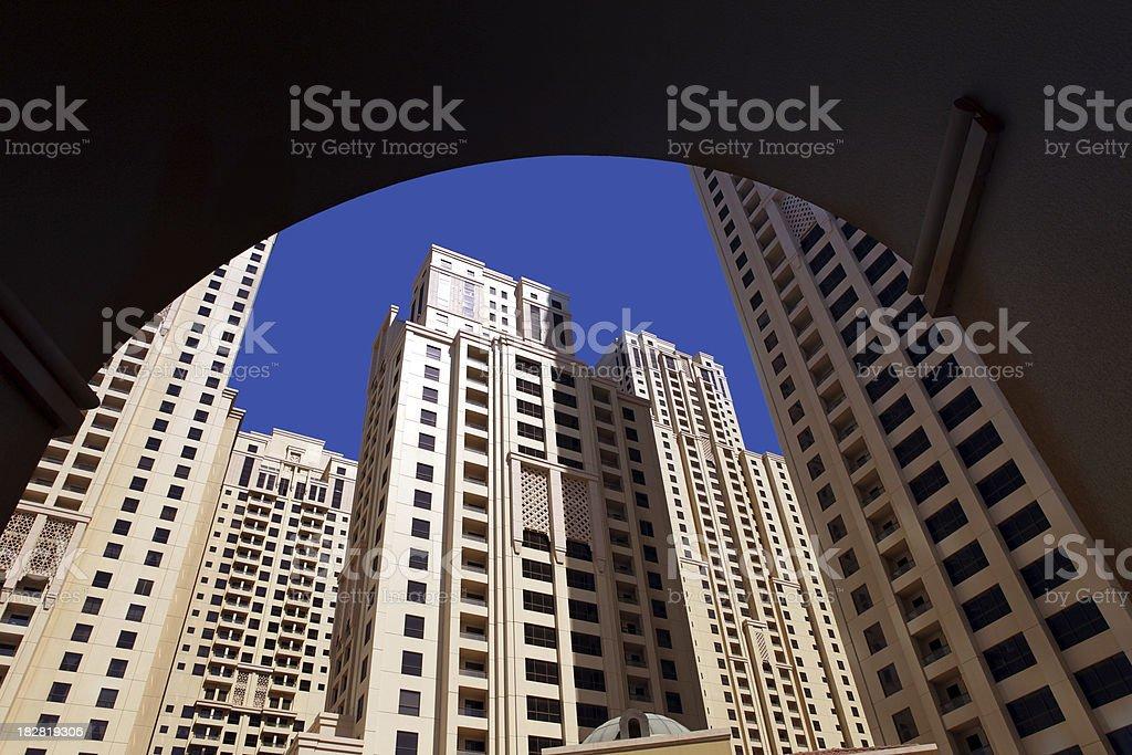 Jumeirah buildings stock photo
