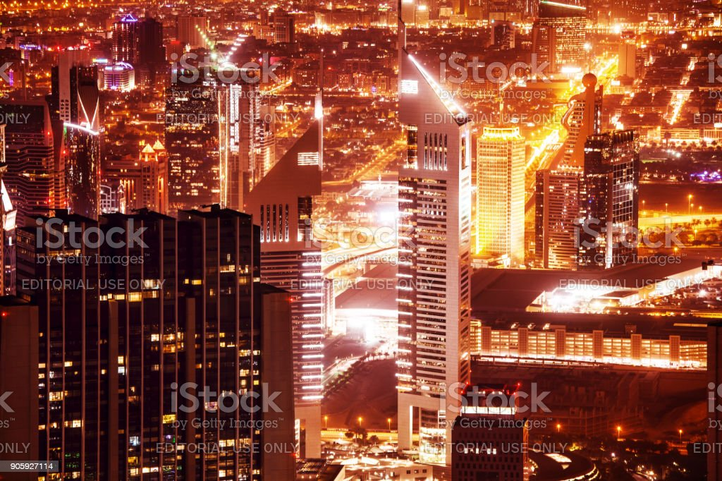 Jumeirah Emirates Towers stock photo