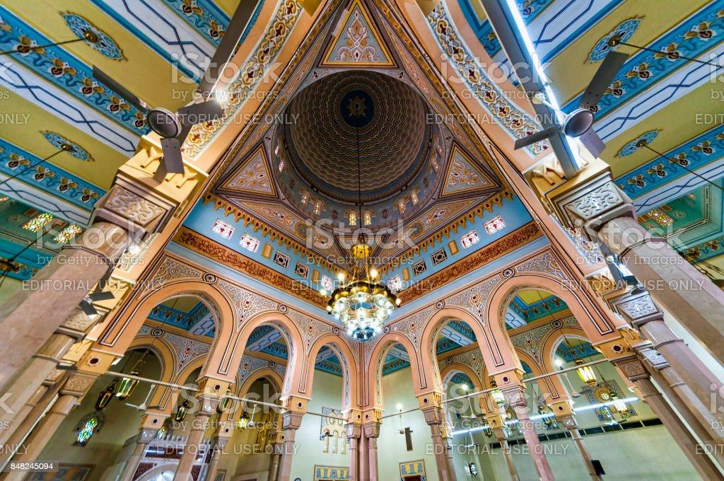 Jumeirah Grand Mosque interior, Dubai stock photo