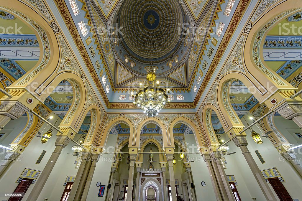 Jumeirah Grand Mosque Interior in Dubai, UAE stock photo