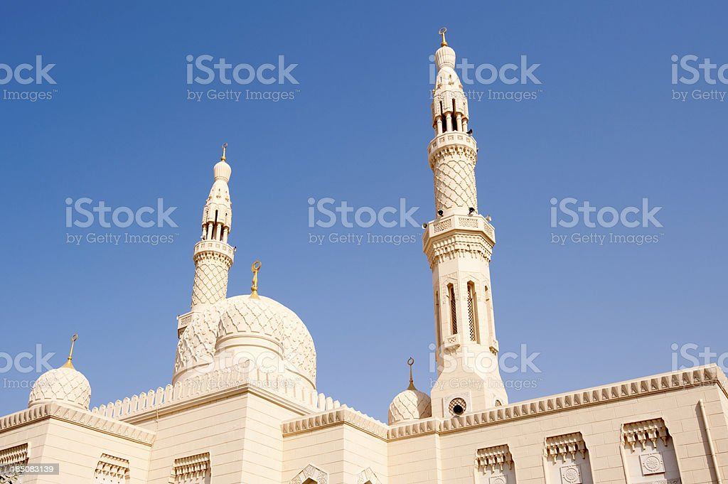 Jumeirah Mosque in Dubai in the United Arab Emirates stock photo