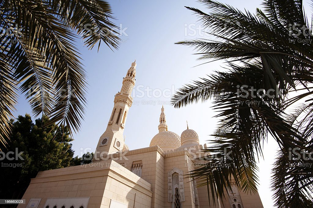 Jumeirah Mosque in Dubai in the United Arab Emirates royalty-free stock photo