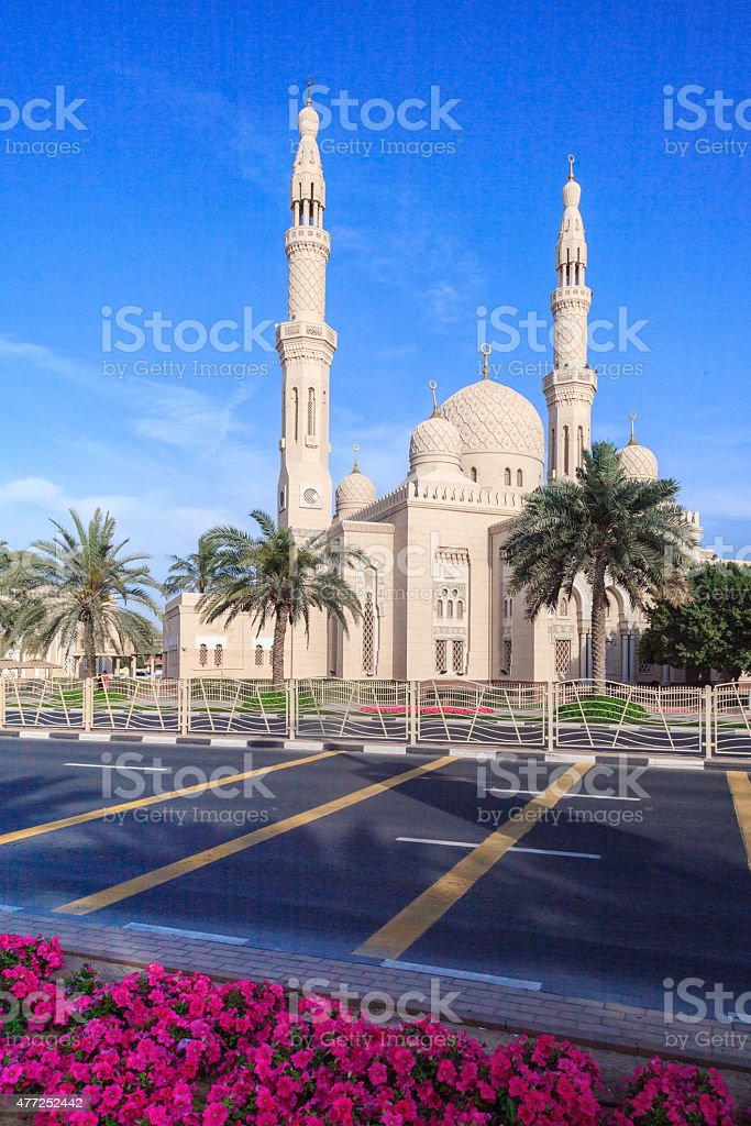 Jumeirah Mosque in Dubai stock photo