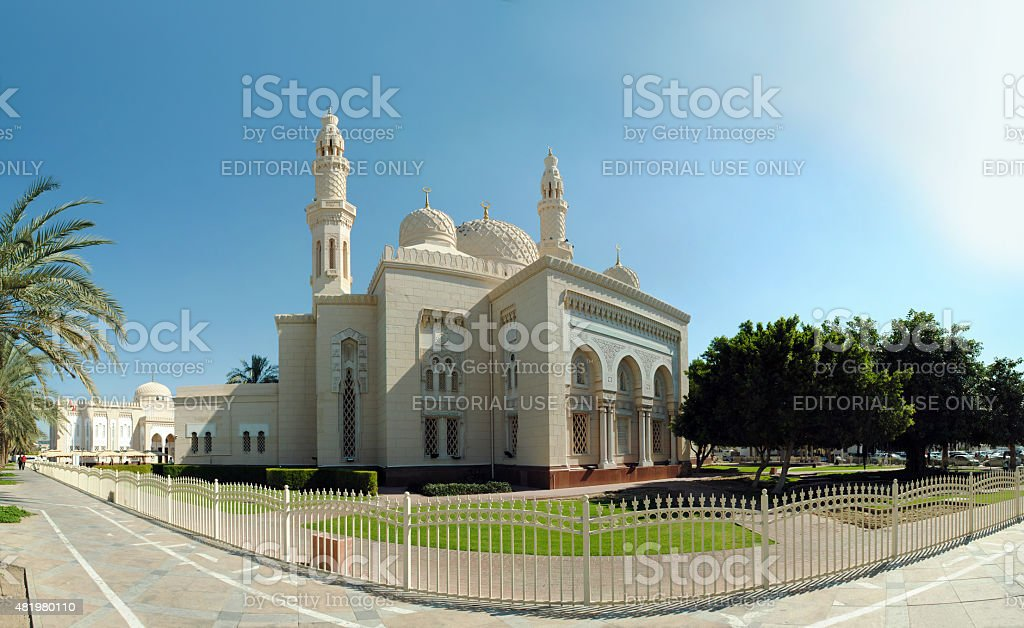 Jumeirah mosque stock photo
