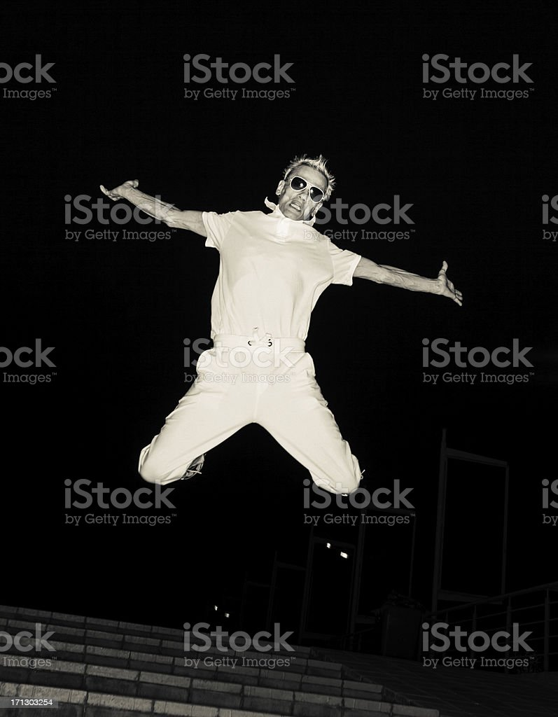 Jump And Joy royalty-free stock photo