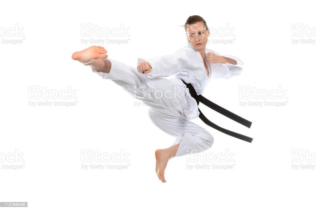 Jump Attack stock photo