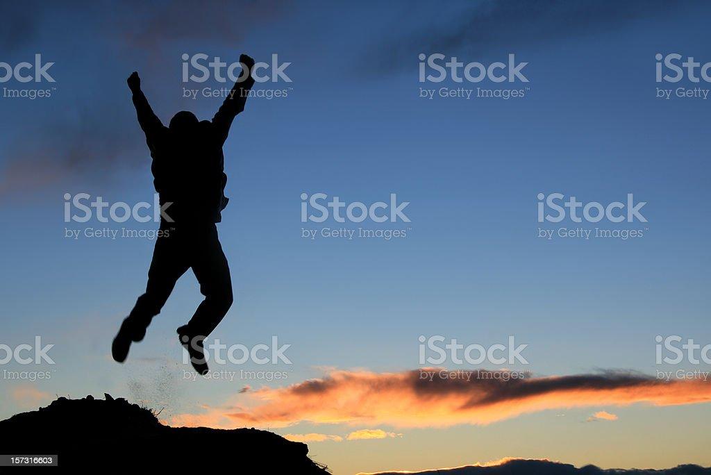 Jump for Joy royalty-free stock photo