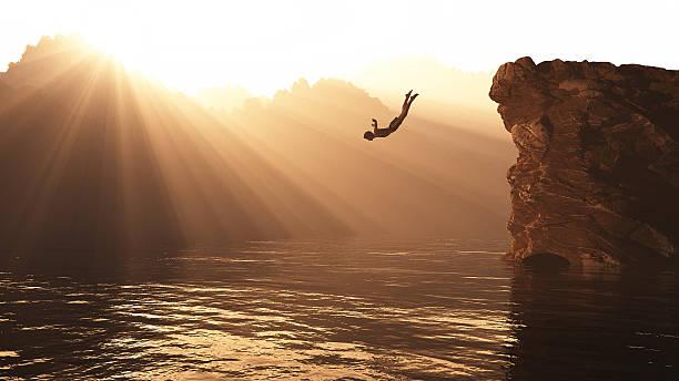 skok ze wzgórza - klif zdjęcia i obrazy z banku zdjęć