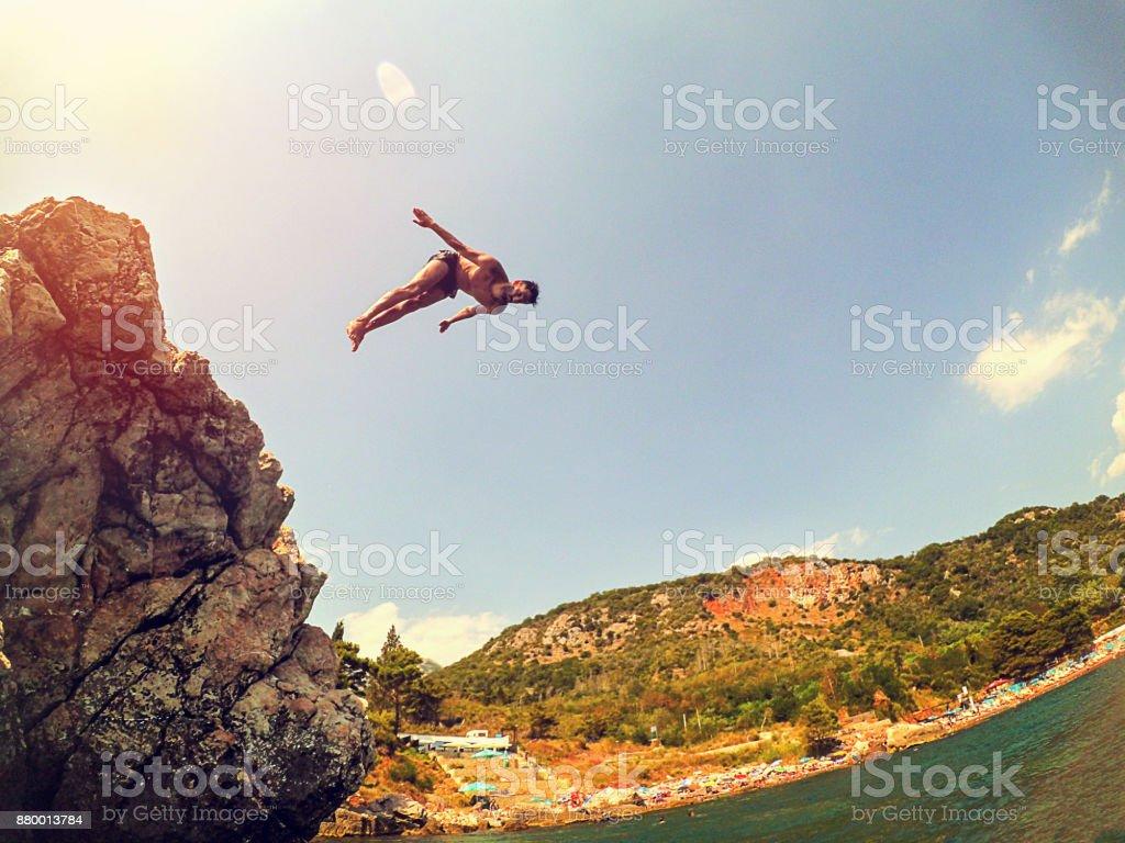 Salto de rock - foto de stock