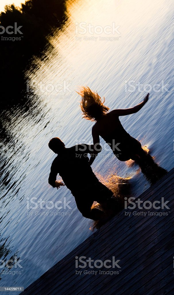 Jump in stock photo